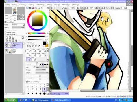paint tool sai no curve tool tutorial como desenhar o finn no paint tool sai part 1