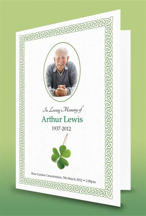 celtic funeral card free templates 17 best images about for on funeral order