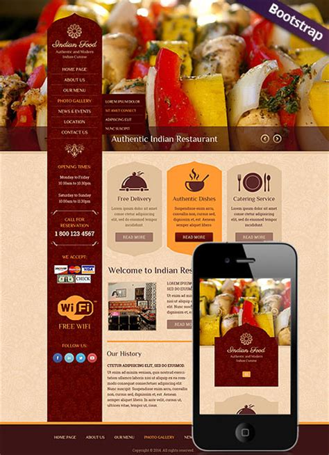bootstrap templates for grocery indian food bootstrap template id 300111796 from
