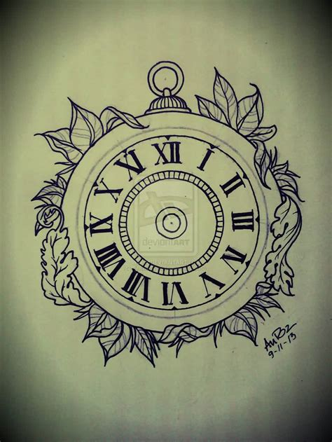 clock tattoo designs 30 simple clock tattoos
