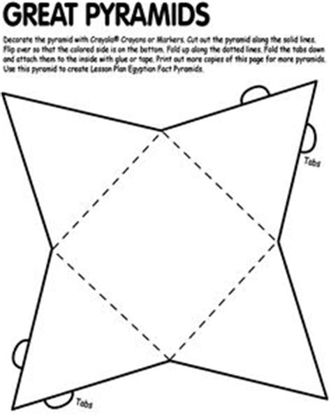 How To Make A Paper Pyramid Template - 1000 images about theme for on