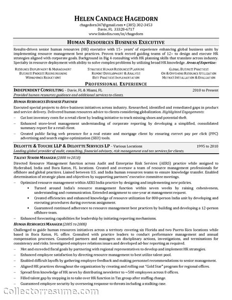Sle Resume Hr Business Partner talent acquisition resume sle 28 images sle resume for