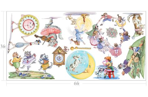 Nursery Rhyme Wall Decals Baby Nursery Wall Murals Nursery Murals The Way Of Decorating A Babies Nursery
