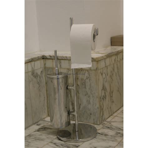 serviteur papier toilette serviteur wc en aluminium avec brosse ebay