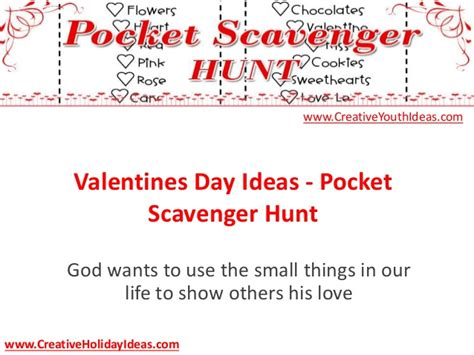valentines day scavenger hunt clues valentines day ideas pocket scavenger hunt