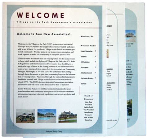 welcome packet template welcome packet templates images
