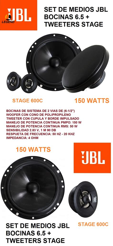Speaker Split Jbl 6 legend jbl stage 600c 6 5 150 watts car audio split