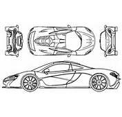 Immagini BLUEPRINTS A Tema Automobili McLaren Auto Sportiva