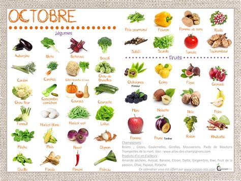 l fruit et legume le calendrier des fruits et l 233 gumes d octobre eat me veggie