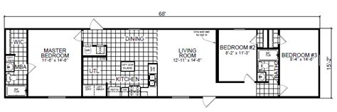 3 bedroom mobile home 16x68 3 bedroom 2 bath special tiny houses