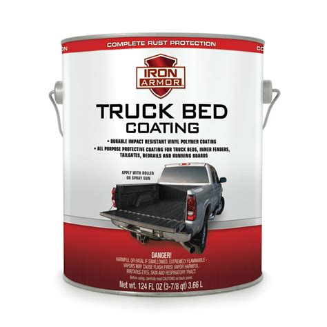 124 fl oz iron armor 174 black truck bed coating