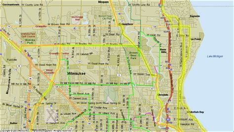 map of milwaukee milwaukee county map my