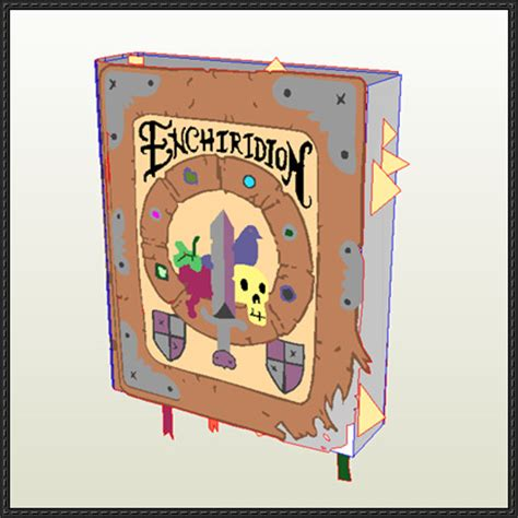 Papercraft Books - adventure time the enchiridion book free papercraft