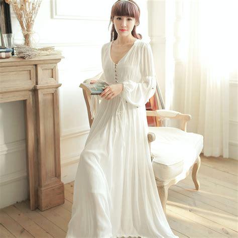 vintage nightgowns womens vintage pajamas dress v neck high waist vintage sleepwear royal princess