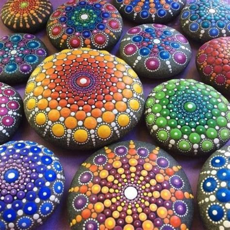 Cheap Home Decor Fabric by Intricate Art Of Mandala Stones Colorful Rockpainting Ideas