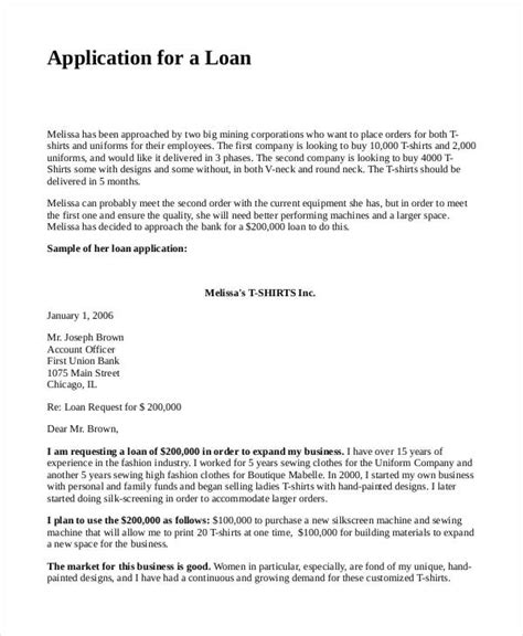 sle loan proposal template loan proposal format sle