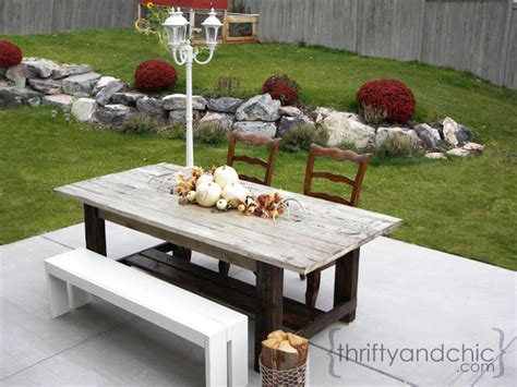 Farmhouse Patio Table Thrifty And Chic Diy Projects And Home Decor