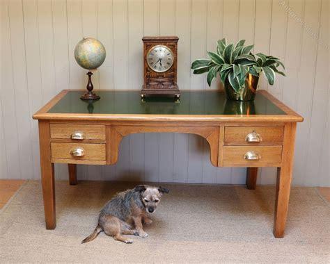 light oak desk with substantial solid light oak desk antiques atlas