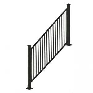 rdi 8 ft x 34 in black square baluster stair rail panel