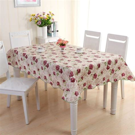 waterproof wipe clean pvc vinyl tablecloth dining kitchen