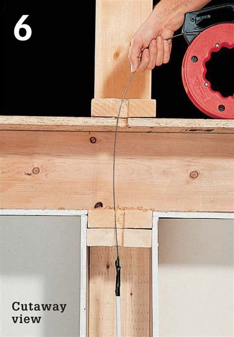 100 how to run electrical wire through studs best