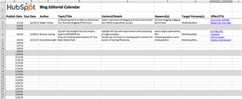 how to create an editorial calendar for your blog free