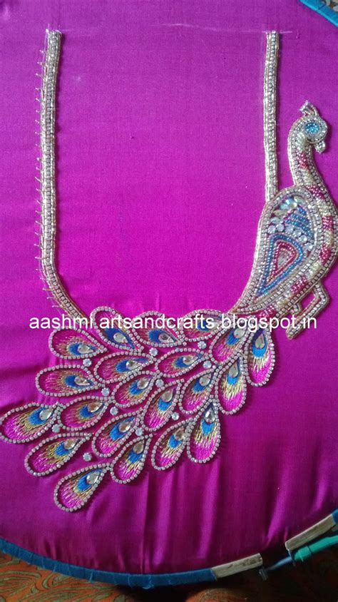 embroidery design in blouse peacock embroidery designs for blouse makaroka com