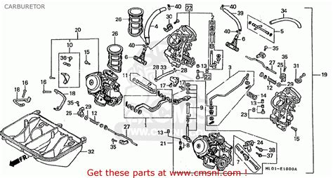 honda vfr400rii nc24 100 1987 h japan carburetor