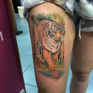 tiger in a jungle tattoo tigers pinterest
