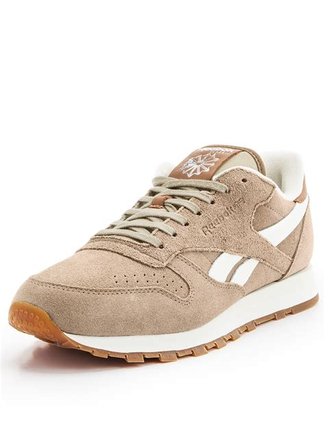 Leather Suede by Reebok Classic Leather Suede Trainers In Beige For Lyst