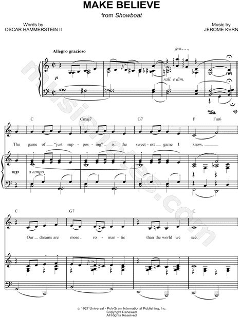 show boat make believe quot make believe quot from show boat musical sheet music in c