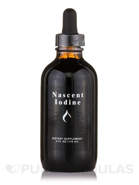 Iodine Detox Chemicals by Nascent Iodine 4 Fl Oz 118 Ml