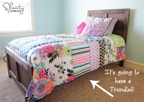 diy trundle bed diy bed pottery barn inspired shanty 2 chic
