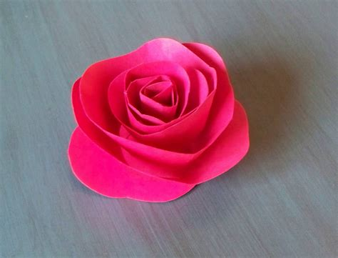 Easy Paper Flower - diy easy paper