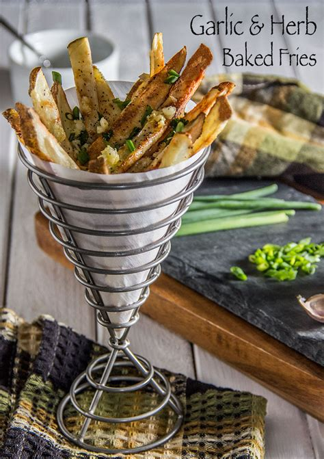 Healthy Fries Garlic garlic and herb baked fries the scrumptious pumpkin