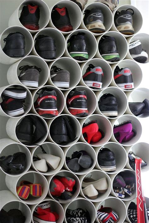 pvc shoe storage diy closet organization diy shoe rack pvc pipes and