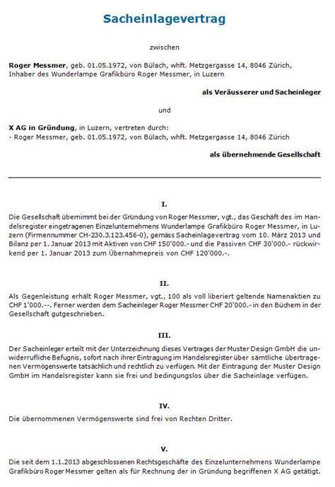 Muster Einladung Gründungsversammlung Verein Sacheinlagevertrag Gmbh Muster Zum