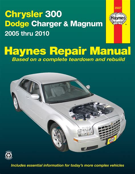 chrysler 300 05 10 dodge charger 06 10 magnum 05 08 haynes repair manual haynes manuals
