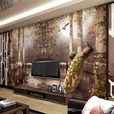 3d wall painting for your bedroom 3d wallpaper for walls peacock garden wall mural rococo