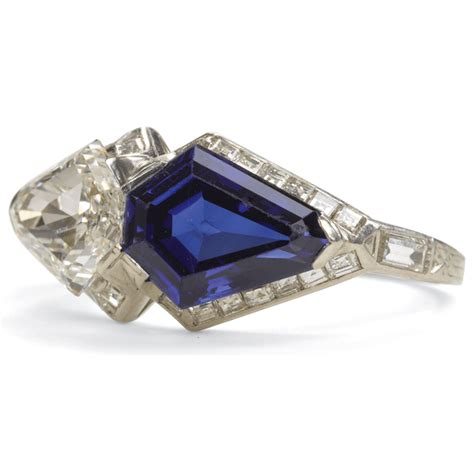 a la vieille russie deco sapphire and ring