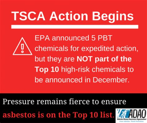 tsca section 13 epa takes action on pbt chemicals pressure to name