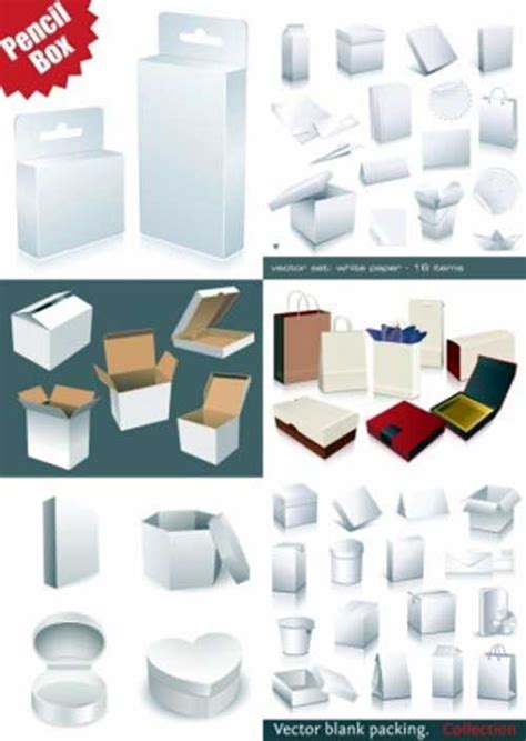 blank packaging templates 30 sets of free vector packaging design templates