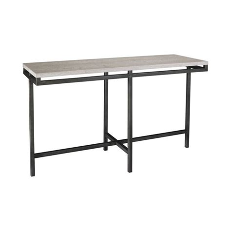 hammary east park sofa table in gunmetal t1014889 00
