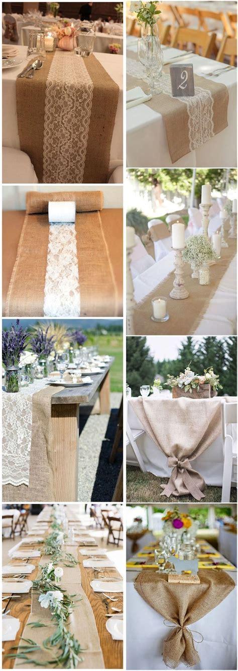 25  best ideas about Burlap wedding tables on Pinterest