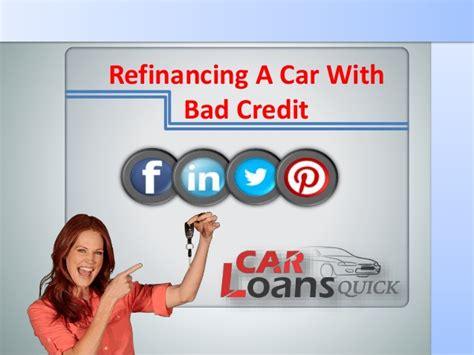auto loan refinancing  bad credit