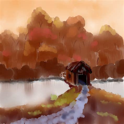 bob ross painting bridge bridge to autumn bob ross painting by devlnblue97 on