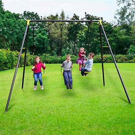 sturdy swing set garden swing set childrens see saw glider outdoor toy home