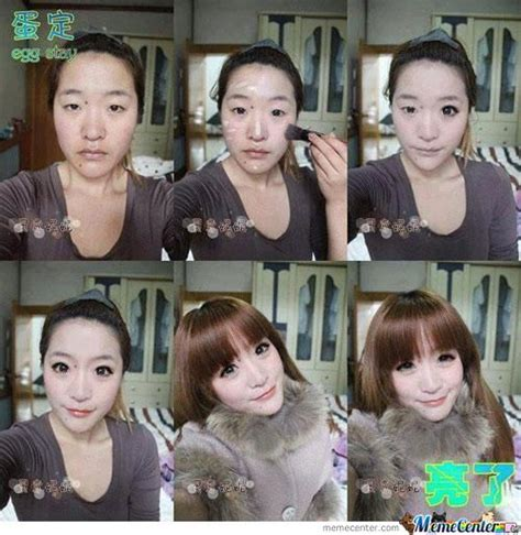 Rainy Chinese Girl Meme - asian girl before and after make up by smexytiger meme