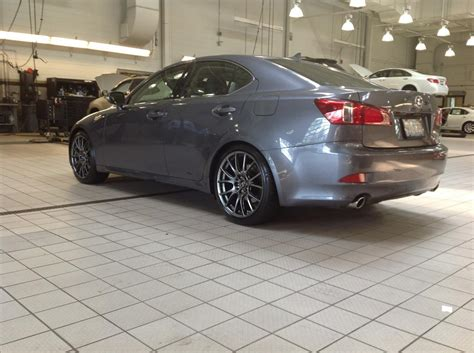 lowered lexus f sport lowering springs and is f wheels on 2012 is350awd
