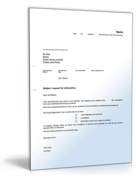 Musterbrief Anfrage Hotel Anfrage Nach Weiteren Informationen Auf Englisch Musterbrief Sofort Zum